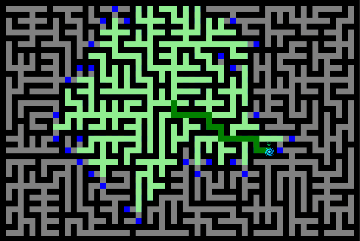 Trace of Dijkstra's Maze Solver